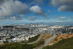 Take in the view from Twin Peaks - San Francisco -At 922 feet in elevation, Twin Peaks is second only to Mt. Davidson in height, and it offers spectacular views of the Bay Area, and it is a world-famous tourist attraction.