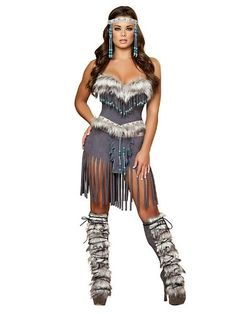 Hottie Indian Costume - Womens Medium (6-8) - Click image twice for more info - See a larger selection of women's animal costume at http://costumeriver.com/product-category/womens-animal-costumes/ - holiday costume , event costume , halloween costume, cosplay costume, classic costumes, scary costume,animal costumes, classic costumes, clothing