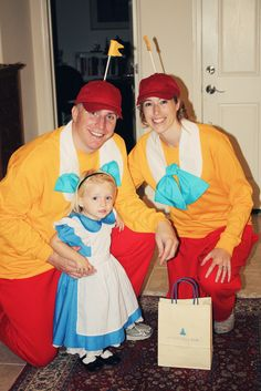 Alice in Wonderland family costume - Tweedle Dee & Tweedle Dum