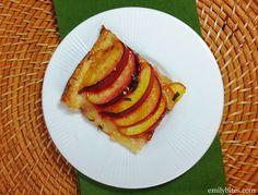 Emily Bites - Weight Watchers Friendly Recipes: Peach Basil Tart