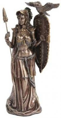 "Athena 10"". A proud and magestic depiction of Greek Goddess Athena. Cold cast resin. 10"" x 4 1/2"" x 2 3/4"""