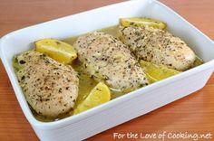 Limón y tomillo pechugas de pollo