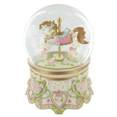 Horse Carousel Glitter Globe: Amazon.co.uk: Kitchen & Home