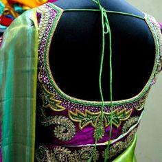 Latest Saree Blouse Back Neck  Designs 2014