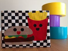 Happy Meal Duct Tape Wallet  Checkerboard Bifold by CheshireNat, $18.50