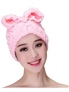42c070043c9 BBandLove Women's Cute Bowknot Dry Hair Towel Cap Shower Bathing Hat (Rose  Red) >>> More info could be found at the image url. | Hair Drying Towels in  2019 ...