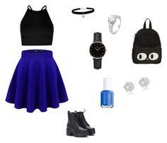 """School outfit!💗"" by melanie-santbergen on Polyvore featuring mode, Boohoo, Betsey Johnson, ROSEFIELD, Essie en River Island"