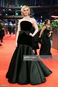 """Elle Fanning poses at the """"The Roads Not Taken"""" premiere during the Berlinale International Film Festival Berlin at Berlinale Palace on February 2020 in Berlin, Germany. Get premium, high resolution news photos at Getty Images Berlin, The Road Not Taken, Strapless Dress Formal, Formal Dresses, Glamorous Dresses, Red Carpet Event, Elle Fanning, International Film Festival, Celebrity Look"""