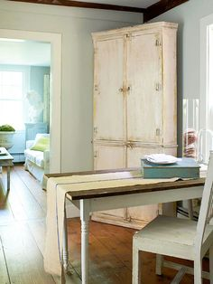 Even if you don't want your whole house to look like a flea market, try adding accent pieces: http://www.bhg.com/decorating/decorating-style/flea-market/house-tour-natural-patina/?socsrc=bhgpin070514rustictouches&page=7