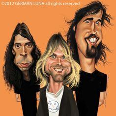 Germán Luna - Caricature de Nirvana on BOOKFACE ARTISTS http://www.bookface-artists.com/wp-content/gallery/bookface-caricature-session-nirvana/nirvana-color-face-883d25624d2bb5ba0fbcd3800d51cdcc651f9eca.jpg