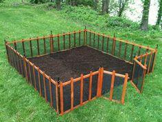 Foot Fence Garden Ideas for Pinterest