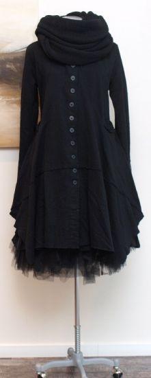rundholz black label - Mantel Sweater black - Winter 2014