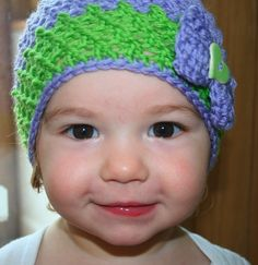 Crochet PATTERN, vintage inspired beanie hat crochet pattern, baby to adult hat crochet pattern. #crochetpattern