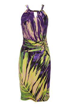 Purple Halter Neck Dress