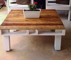 DIY Pallet Coffee #Table #Design and Ideas | 99 Pallets