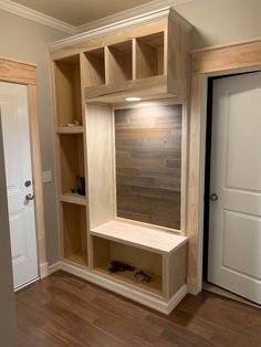 Custom Mudroom Drop Zone from Prefab Cabinets - Dream It. Build It. Prefab Cabinets, Mudroom Cabinets, Mudroom Laundry Room, Ikea Cubbies, Drop Zone, Home Upgrades, Home Projects, Home Remodeling, House Plans