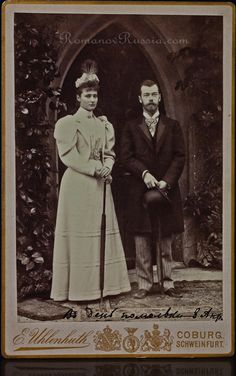 Tsar Nicholas II of Russia and Alix of Hesse engagement photograph