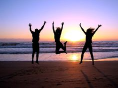 watch the sunrise on the beach with friends