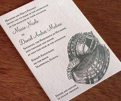 Key West Letterpress Wedding Invitation Set  1 color by ajalon, $559.00