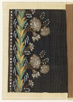Embroidery Sample, ca. 1790–1800