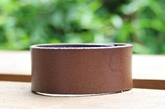CUSTOM HANDSTAMPED brown leather cuff by mothercuffer on Etsy