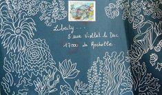 White pen on dark envelope --  Mail Art #mailart #snailmail #happymail