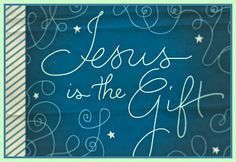 Christmas Photograph Card Jesus is the Gift by MYSAVIOR on Etsy, $3.50