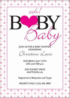 Ooh Baby Baby  Baby Shower Invitation by TheProgramChick on Etsy, $8.90