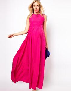 ASOS Maternité - Maxi robe plissée