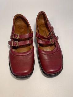Josef Seibel Double Strap Mary Jane Shoe Burgundy Size 41 EU 10 US  88a6f5f2d65