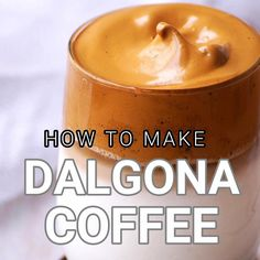 May 2020 - How to make easy, delicious and trending dalgona coffee recipe or whipped coffee recipe. Super easy to make with 3 staple ingredients! Coffee Drink Recipes, Tea Recipes, Smoothie Recipes, Baking Recipes, Dessert Recipes, Cake Recipes, Easy Drink Recipes, Smoothies, Healthy Recipes