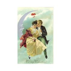 Free Vintage Valentine's Day Cards Romantic Couples ❤ liked on Polyvore featuring vintage, people and valentine