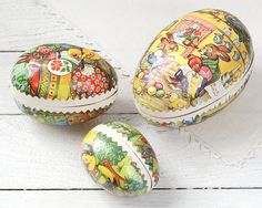 Vintage Easter Eggs  Paper Mache Candy by smilemercantile on Etsy, $47.50