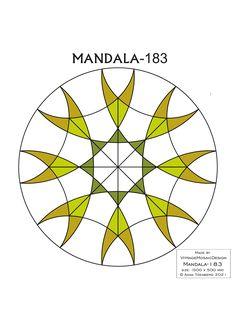 MANDALA-183 Stained glass pattern, Mosaic pattern, Painting glass pattern, to DOWNLOAD PDF, Suncatcher, Window panel, Window handing ויטראז by VitrageMosaicDesign on Etsy