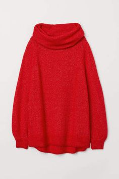 60d75c56d06 H M Oversized Cowl-neck Sweater - Red Red Oversized Sweater
