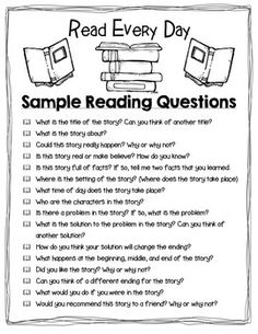 TAKE HOME READING - RED (READ EVERY DAY) FOLDER AND READING LOG…