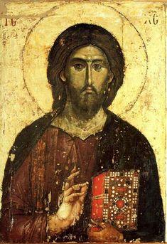Serbian icons. Christ Pantocrator. XIII century. Mount Athos, Chilandar monastery.