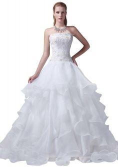 GEORGE BRIDE Sweetheart Neckline Organza Over Satin Tiered Wedding Dress           ($179.00) http://www.amazon.com/exec/obidos/ASIN/B0091QTVAY/hpb2-20/ASIN/B0091QTVAY