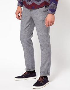 ASOS Skinny Chinos In Tweed