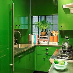 10 Of Our Favorite Colorful Rooms On Instagram #refinery29  http://www.refinery29.com/instagram-colorful-rooms#slide-10  Lacquered Kelly GreenWhen too much is never enough, indulge in a lacquered finish for the boldest color statement possible....