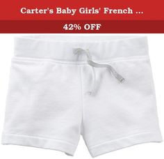 Carter's Baby Girls' French Terry Shorts (Baby) - White - 3 Months. Carter's French Terry Shorts (Baby) - White Carter's is the leading brand of children's clothing, gifts and accessories in America, selling more than 10 products for every child born in the U.S. Their designs are based on a heritage of quality and innovation that has earned them the trust of generations of families.