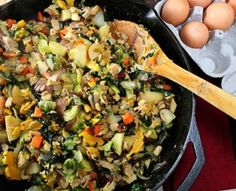 Turkey and Vegetable Hash | 39 Leftover Turkey Recipes