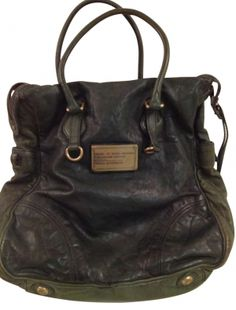 Marc By Marc Jacobs Washed Leather Forest Green Tote Bag
