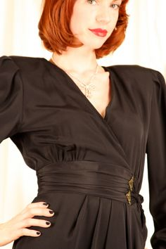Vintage 1980s Black Dress via Etsy.
