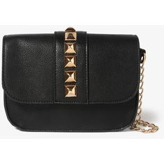 FOREVER 21 Studded Chain Strap Crossbody ($25) ❤ liked on Polyvore