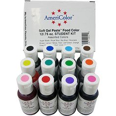 AmeriColor Food Decorating Pens (set of 10)..Pens will write on ...