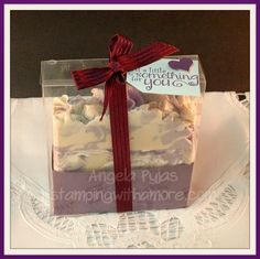 Great way to package homemade soap! For how- to video visit stampingwithamore.com