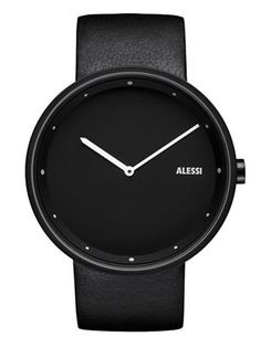 Alessi Watch: Andrea Branzi Out_Time Double Black | NOVA68 Modern Design