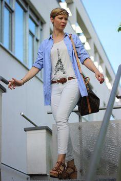Sportliches Outfit mit weißer Hose - Ich mach das zum Spaß