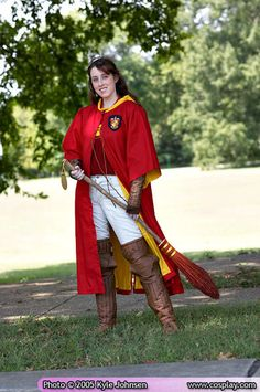 My Quidditch (Harry Potter) costume from 2003. // Construction info and more cosplay photos at kelldar.com